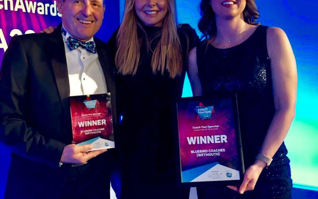 BLUEBIRD COACHES OF WEYMOUTH WIN AWARD AT THE BRITISH COACH TOURISM AWARDS 2019