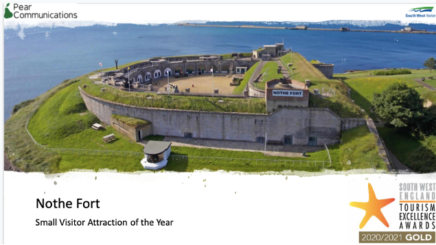 Nothe Fort wins tourism award for Weymouth
